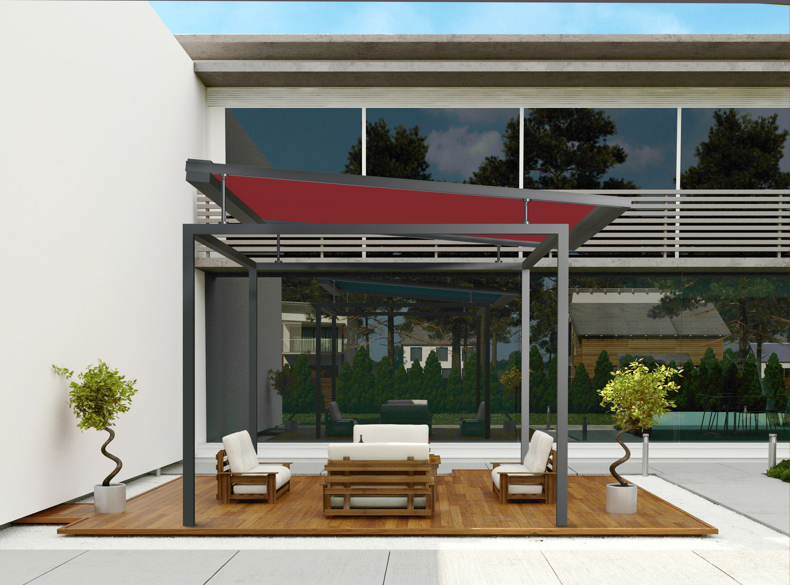 FRAME roofing Awning